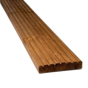 Image of Blooma Nevou Premium Brown Softwood Deck board (T)27mm (W)144mm (L)2400mm