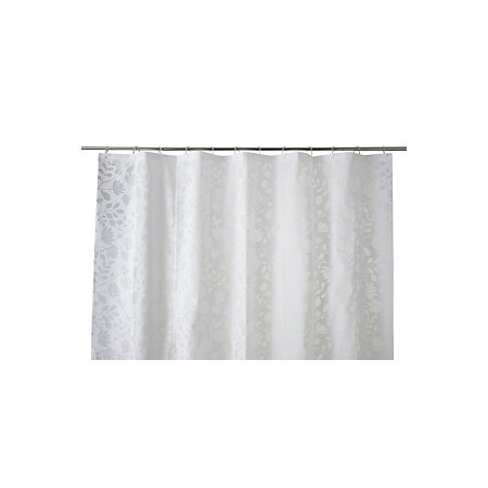 Cooke Lewis Ledava White Silver Leaf Shower Curtain L1800 Mm