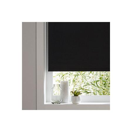 colours boreas corded black blackout roller blind l 180. Black Bedroom Furniture Sets. Home Design Ideas