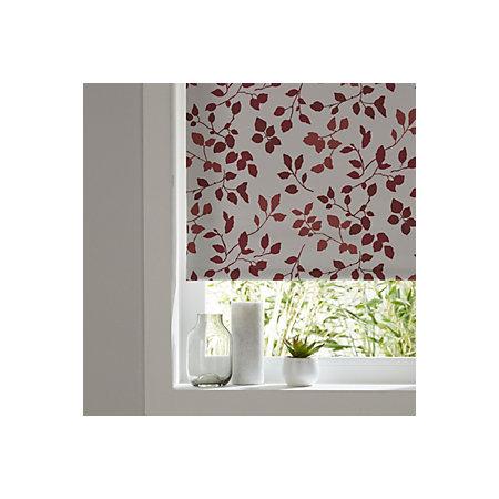 colours boreas corded ivory red blackout roller blind l. Black Bedroom Furniture Sets. Home Design Ideas