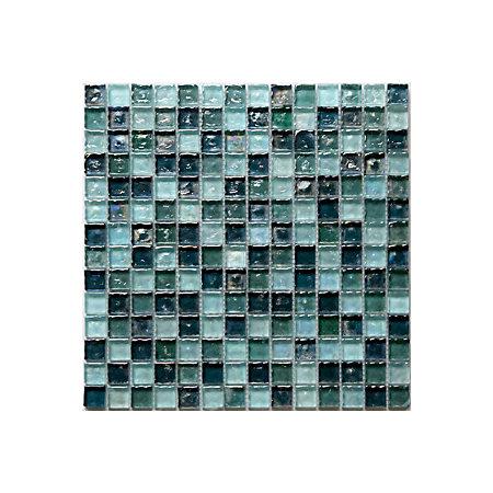 bressia blue green glass mosaic tile l 306mm w 306mm. Black Bedroom Furniture Sets. Home Design Ideas