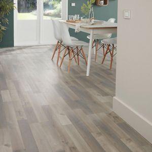 Image of Addington Grey Oak effect Laminate flooring 1.996 m² Pack