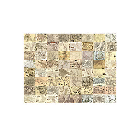 1wall cream world maps 64 piece wallpaper collage departments 000 000 gumiabroncs Images
