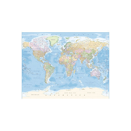 Map of the world wallpaper mural departments diy at bq 000 000 gumiabroncs Image collections