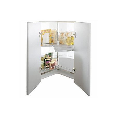 Kesseb hmer corner cabinet three quarter carousel 1000mm for Kitchen cabinets 1000mm