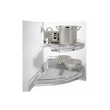 Kesseb hmer corner cabinet half carousel 800mm for Kitchen cabinets 800mm
