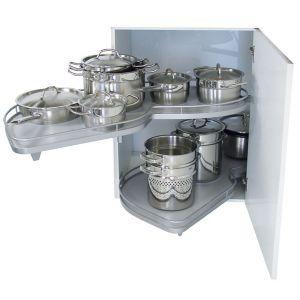 Kesseböhmer LH Lemans Corner Cabinet Storage  1000mm