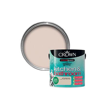 Crown Kitchen & bathroom Wheatgrass Mid sheen Emulsion ...