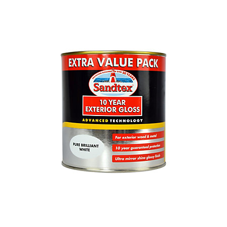 Sandtex Exterior Brilliant White Gloss Wood Metal Paint 1l Departments Tradepoint