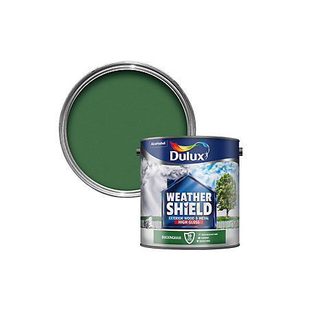 Dulux weathershield buckingham green gloss wood metal - Weathershield exterior paint system ...