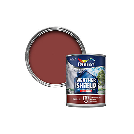 Dulux weathershield exterior monarch red gloss wood - Weathershield exterior paint system ...