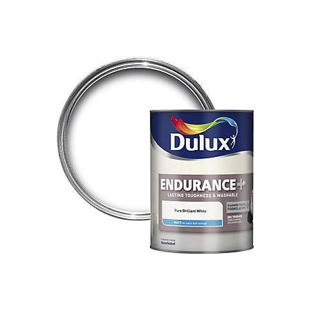 dulux endurance pure brilliant white matt emulsion paint. Black Bedroom Furniture Sets. Home Design Ideas
