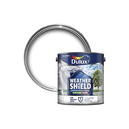 Dulux weathershield exterior pure brilliant white gloss - Weathershield exterior paint system ...