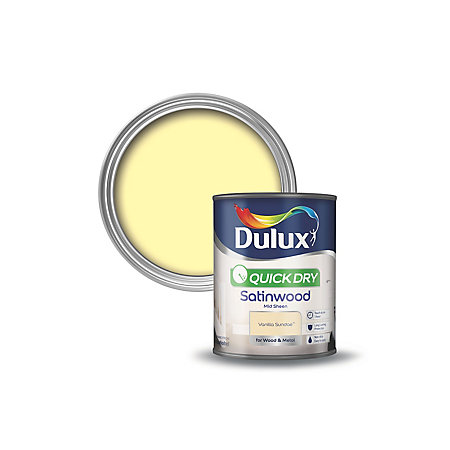 Dulux Trade Satinwood Paint Vanilla B Q