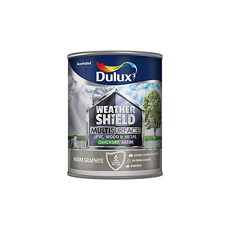Dulux weathershield exterior warm graphite satin paint 0 - Weathershield exterior paint system ...