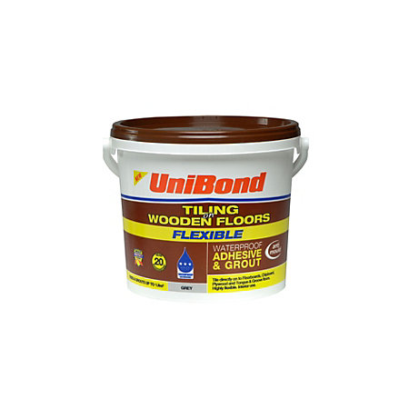 Unibond Ready To Use Floor Tile Adhesive Grout Grey 73kg Departments Diy At Bq
