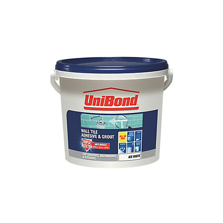 Unibond Ready To Use Wall Tile Adhesive Amp Grout Ice White