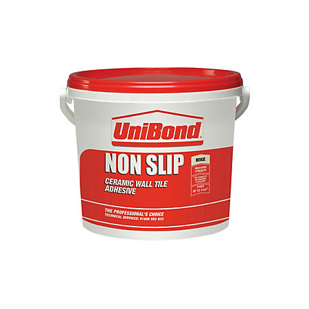 Unibond Non Slip Ready To Use Wall Tile Adhesive Beige 14kg