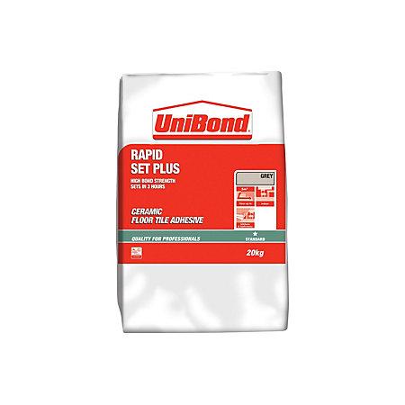 Unibond Rapid Set Plus Powder Floor Tile Adhesive Grey
