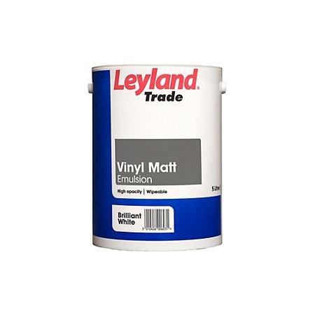 Leyland Trade Brilliant White Matt Emulsion Paint 5l
