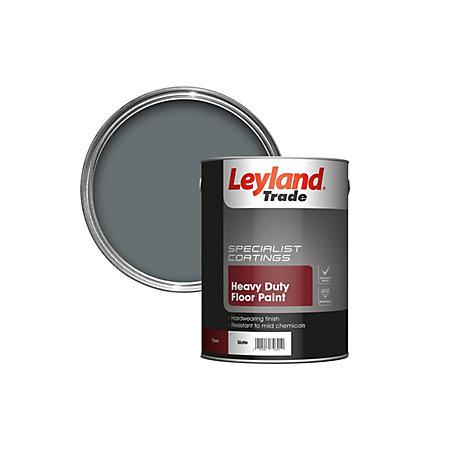 Leyland Trade Heavy Duty Slate Satin Floor Amp Tile Paint5l