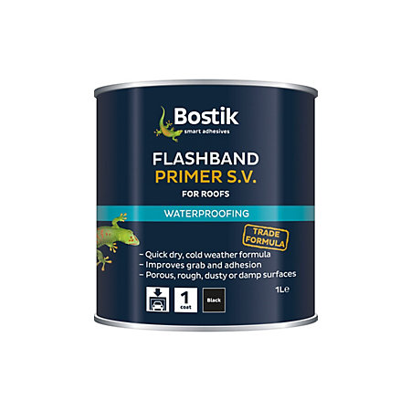 Bostik Black Flashband Primer 1l Departments Diy At B Amp Q