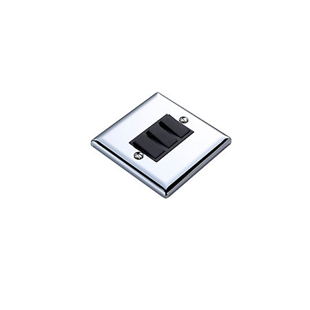 Volex 10A 2-Way Triple Polished Chrome Effect Light Switch
