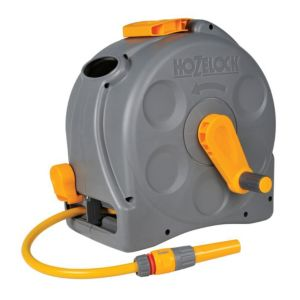 Image of Hozelock 2 in 1 Wall mounted Hose reel & hose (L)25 m