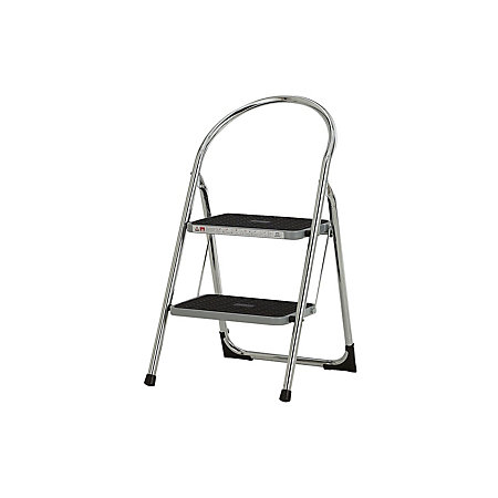 Pleasing Abru Blue Seal 2 Tread Chrome Plated Steel Step Stool 0 96M Departments Diy At Bq Gmtry Best Dining Table And Chair Ideas Images Gmtryco