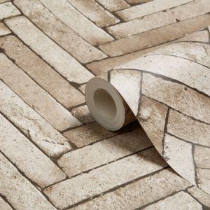 Terrific Brick Tile Stone Effect Wallpaper Wall Coverings Download Free Architecture Designs Ogrambritishbridgeorg