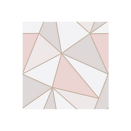Fine Decor Apex Rose Gold Geometric Metallic Effect Wallpaper Departments Diy At B Q