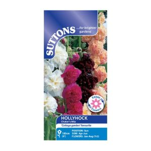 Suttons Hollyhock Seeds  Chaters Mix