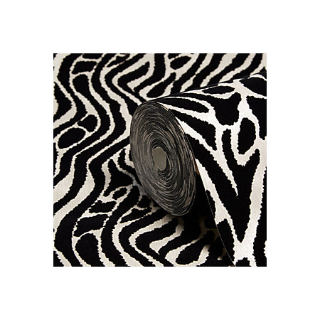 Graham Brown Julien Macdonald Black Silver Animal Print Wallpaper Departments Diy At B Q