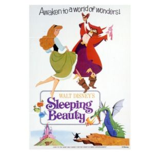 Sleeping Beauty Multicolour Canvas Art (W)35cm (H)50cm