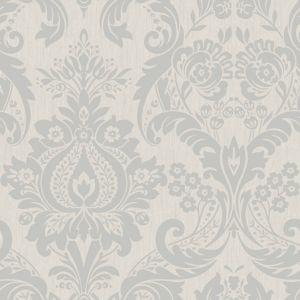 Graham brown superfresco silver effect damask wallpaper