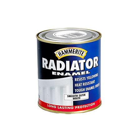 Hammerite Enamel White Satin Radiator Paint 500 Ml Departments Diy At B Q