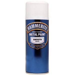 Hammerite White Gloss Metal Spray Paint 400ml