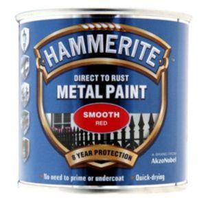 Hammerite Red Gloss Metal Paint 250ml