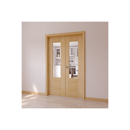 1 lite clear glazed 2 panel internal french door set h2020mm w 000 000 planetlyrics Image collections