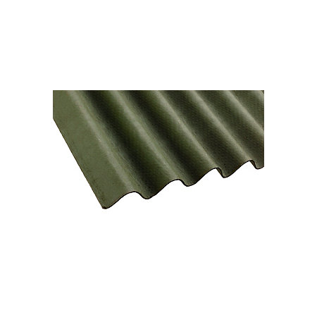 Green Bitumen Roofing Sheet 2m X 900mm Departments Diy
