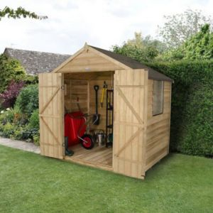 7 X5 Apex Overlap Wooden Shed with Assembly Service