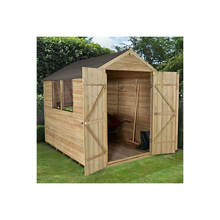 8x6 Forest Apex Roof Overlap Wooden Shed Departments Diy At B Q
