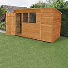 10x6 Forest Pent Overlap Wooden Shed Best Price, Cheapest Prices