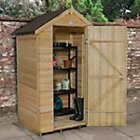 4x3 Forest Apex Overlap Wooden Shed With assembly service Best Price, Cheapest Prices