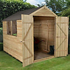8x6 Forest Apex Overlap Wooden Shed With assembly service Best Price, Cheapest Prices