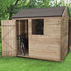 8x6 Forest Reverse apex Overlap Wooden Shed Best Price, Cheapest Prices