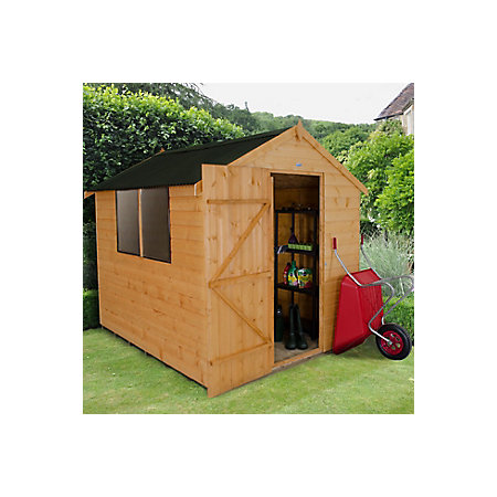 8x6 Forest Apex Roof Shiplap Wooden Shed Departments Diy At B Q