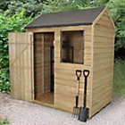 6x4 Forest Reverse apex Overlap Wooden Shed Best Price, Cheapest Prices