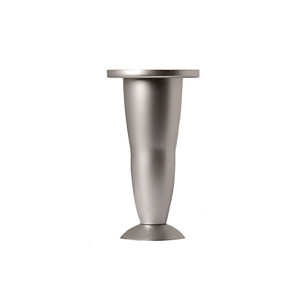 rothley h 128mm aluminium effect silver furniture leg. Black Bedroom Furniture Sets. Home Design Ideas