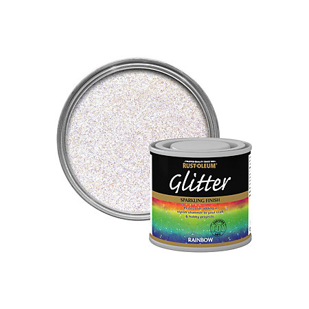Rust Oleum Glitter Rainbow Paint Review